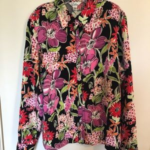 Lilly Pulitzer brown printed blouse XL